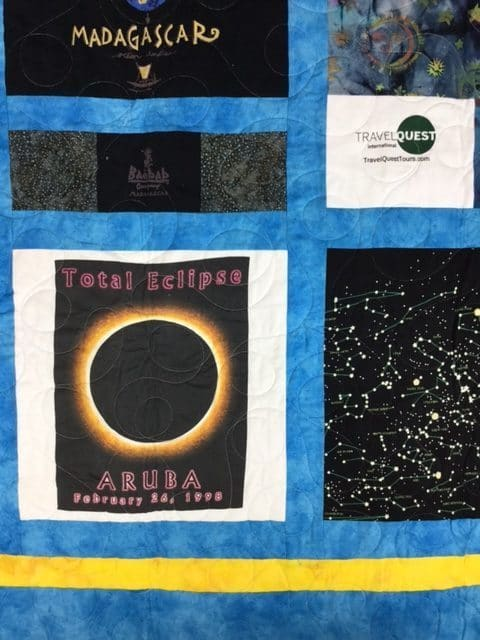 Close up of T-shirt Quilt