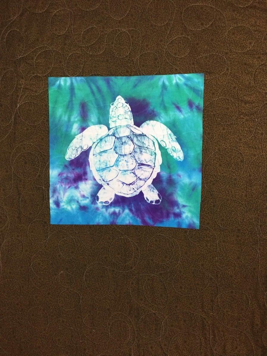 Custom wildlife T-shirt Quilt for client