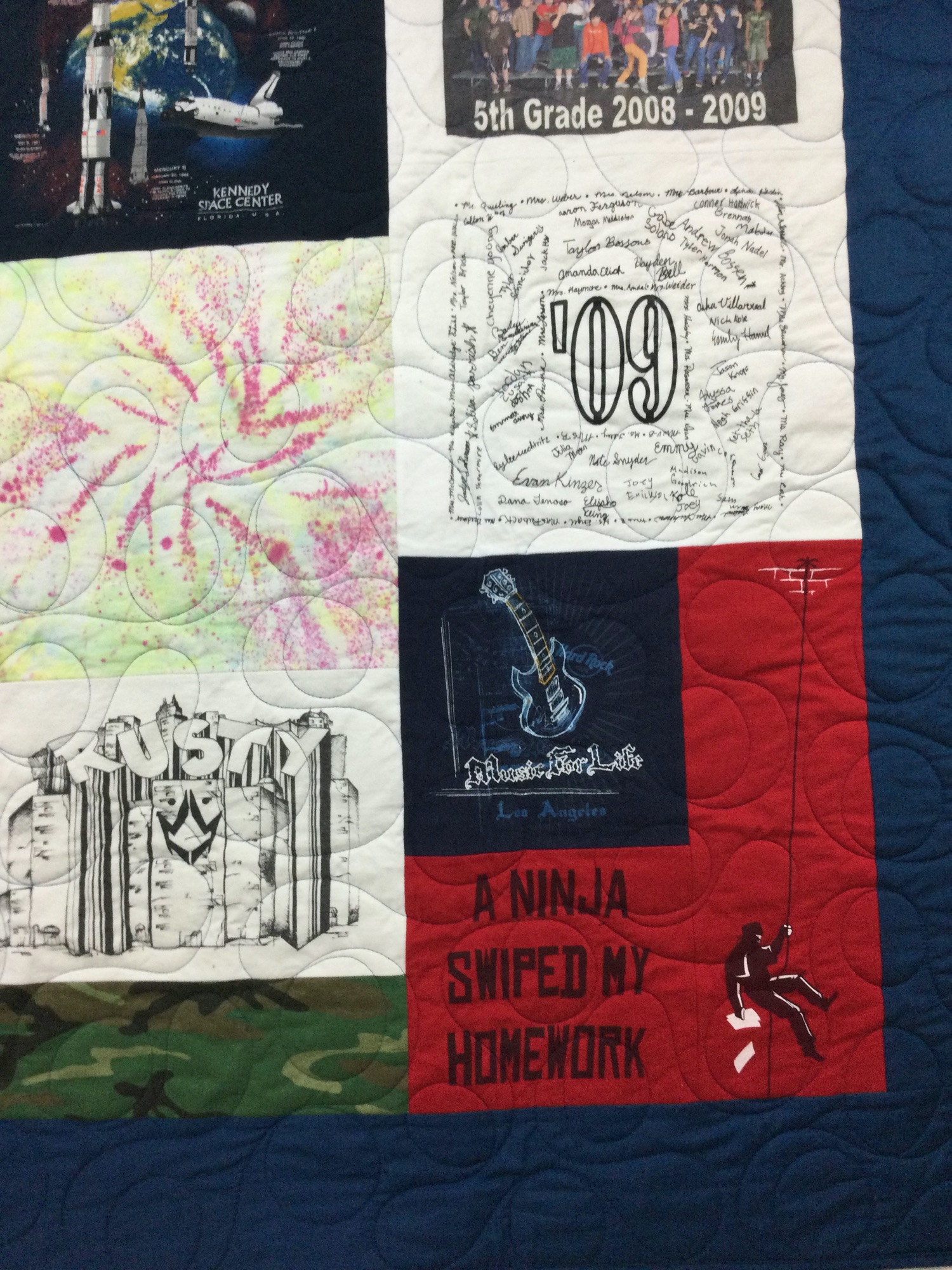 memory quilt sewing