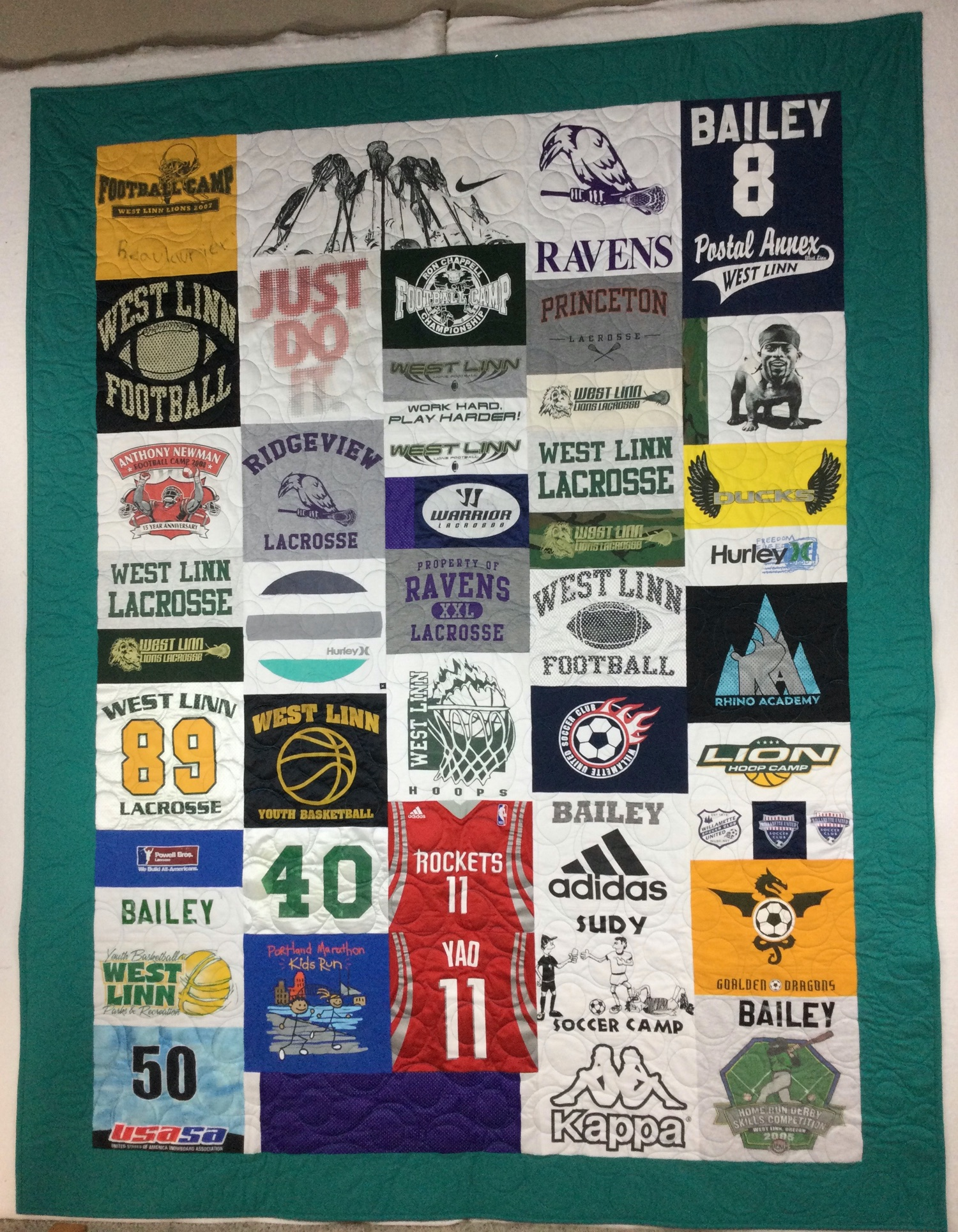 memory quilt for son
